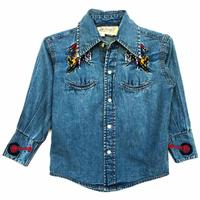 Rockmount Ranch Wear Children's Vintage Western Shirt:  Denim Bucking Bronc