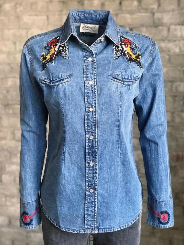Rockmount Ranch Wear Ladies' Vintage Western Shirt: A Rockmount Bronc Denim