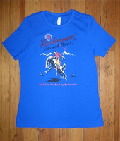 Rockmount Ranch Wear Ladies' Western T-Shirt: Signature Bronc Blue