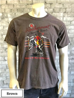 Rockmount Ranch Wear T-Shirt: Men's Signature Bronc Brown