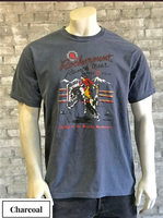 Rockmount Ranch Wear T-Shirt: Men's Signature Bronc Charcoal Backordered
