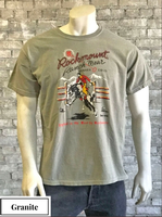 Rockmount Ranch Wear T-Shirt: Men's Signature Bronc Granite Backordered
