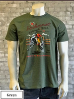 Rockmount Ranch Wear T-Shirt: Men's Signature Bronc Green