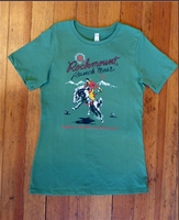 Rockmount Ranch Wear Ladies' Western T-Shirt: Signature Bronc Green