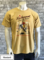 Rockmount Ranch Wear T-Shirt: Men's Signature Bronc Mustard