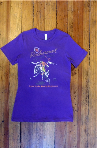 Rockmount Ranch Wear Ladies' Western T-Shirt: Signature Bronc Purple