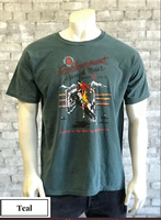 Rockmount Ranch Wear T-Shirt: Men's Signature Bronc Teal