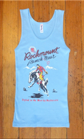 Rockmount Ranch Wear Ladies' Western T-Shirt: Tank Signature Bronc Blue