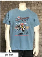 Rockmount Ranch Wear T-Shirt: Men's Signature Bronc Ice Blue