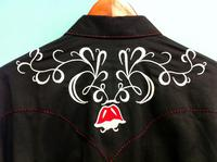ZSold Rockmount Ranch Wear Men's Vintage Western Shirt: Fancy Tulip Floral Embroidery Black 2XL SOLD