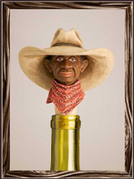 A Rockmount Ranch Wear Cowboy Bottle Stopper: Trail Boss
