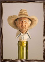 A Rockmount Ranch Wear Cowboy Bottle Stopper: Gramps