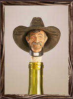 A Rockmount Ranch Wear Cowboy Bottle Stopper: Cowboy Preacher