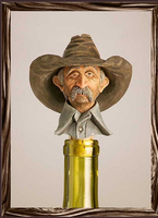 A Rockmount Ranch Wear Cowboy Bottle Stopper: Boozer