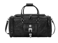American West Handbag ZZ Travel Collection: Retro Luggage Rodeo Bag Black