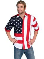Scully Men's Vintage Western Shirt: The Patriot Stars and Stripes Short Sleeve