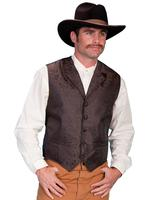 Scully Men's Old West Vest: Rangewear Paisley Brown