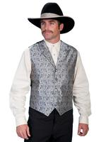Scully Men's Old West Vest: Rangewear Paisley Grey