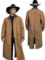 Scully Men's Old West Coat: Rangewear Duster Brown S-2XL