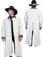 Scully Men's Old West Coat: Rangewear Duster Natural S-2XL