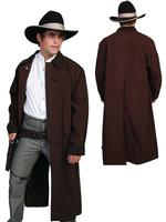 Scully Men's Old West Coat: Rangewear Duster Walnut S-2XL
