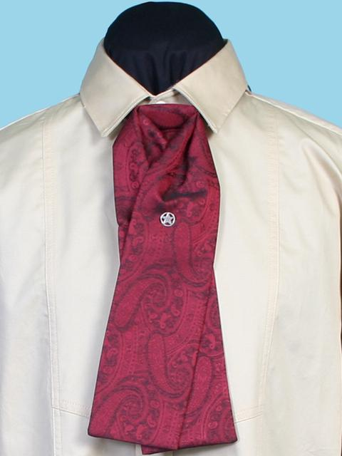 Scully Men's Accessory: Neckwear Rangewear Silk Paisley Tie Red