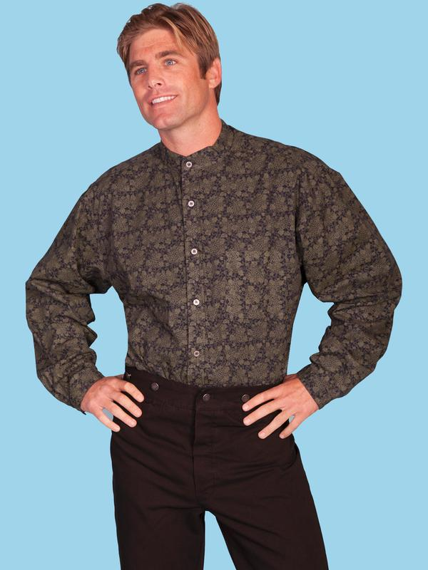 Outwest western boutique and cultural center for Mens big and tall banded collar shirts