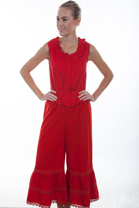 Scully Ladies' Old West Pant: Rangewear Bloomers Red XS-2XL