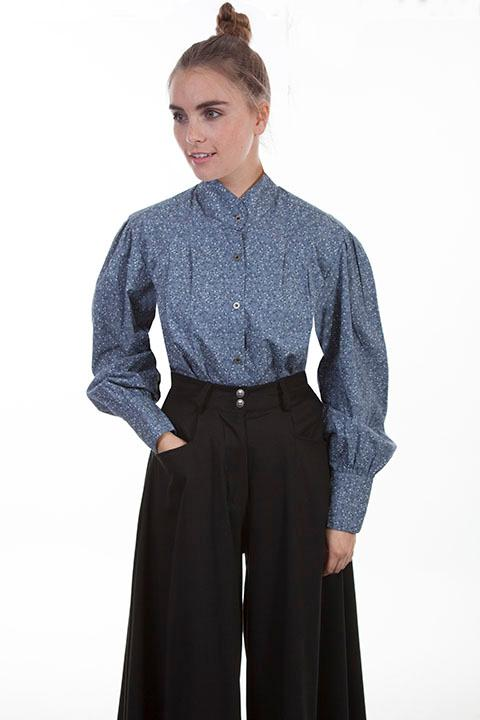 Scully Ladies' Old West Blouse: Rangewear Calico