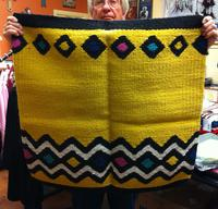 ZSold Saddle Blanket: 32x32 Abetta Saddle Blanket Wool Yellow