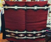 Saddle Blanket: 36x34 Abetta Free Spirit Wool Burgundy