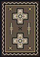 American Dakota Rug: Cabin & Camp Collection Saint Cross 4x5 Drop Ship