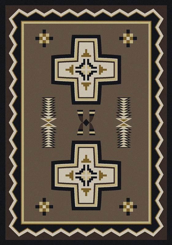American Dakota Rug: Cabin & Camp Collection Saint Cross 5x8 Drop Ship