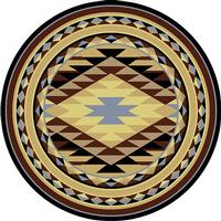 American Dakota Rug: Voices Collection Sallisaw 8' Round Drop Ship