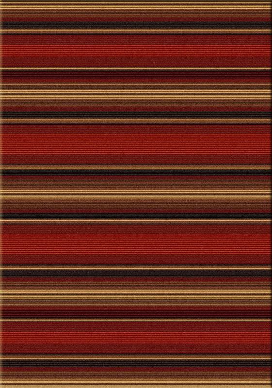 American Dakota Rug Cabin Camp Collection Santa Fe Stripe 5x8