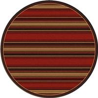 American Dakota Rug: Cabin & Camp Collection Santa Fe Stripe 8' Round Drop Ship
