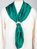 Scully Men's Accessory: Wahmaker Silk Jacquard Scarf Hunter Green