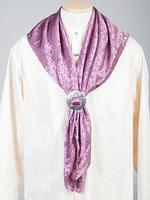 Scully Men's Accessory: Wahmaker Silk Jacquard Scarf Rose