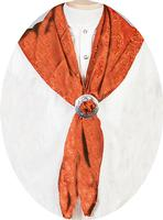 Scully Men's Accessory: Wahmaker Silk Jacquard Scarf Rust