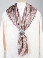 Scully Men's Accessory: Wahmaker Silk Jacquard Scarf Taupe