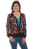Scully Ladies' Honey Creek Collection Jacket: Bomber with Embroidery SALE