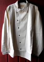 Scully Men's Old West Shirt: Rangewear Cotton Asymetrical Button Front Natural