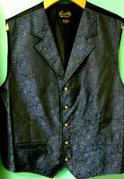 Scully Men's Old West Vest: Rangewear Old Time Classic Pattern Blue