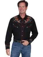 Scully Men's Vintage Western Shirt: A Boots Hats Guitars Black