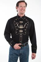 ZSold Scully Men's Vintage Western Shirt: Guitar Yoke S-2X Big/Tall 3X-4X SOLD