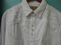 Scully Men's Vintage Western Shirt: The Gunfighter Solid White & White