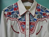 ZSold Scully Ladies' Vintage Western Shirt: The Gunfighter White with Multi Colors M-XL SOLD