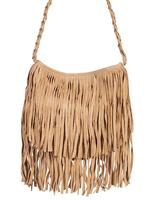 Scully Leather Shoulder Bag: Western Layers of Fringe Suede DEAL