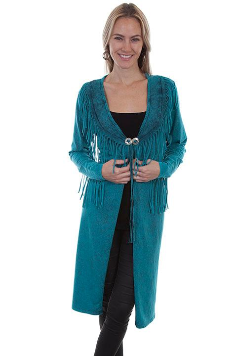 Scully Ladies' Honey Creek Collection: Duster with Fringe SALE