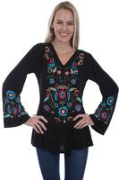 Scully Ladies' Honey Creek Collection Blouse: Embroidered Tunic